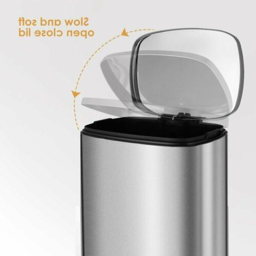 13 Gallon/50 Stainless Steel Garbage Office Can