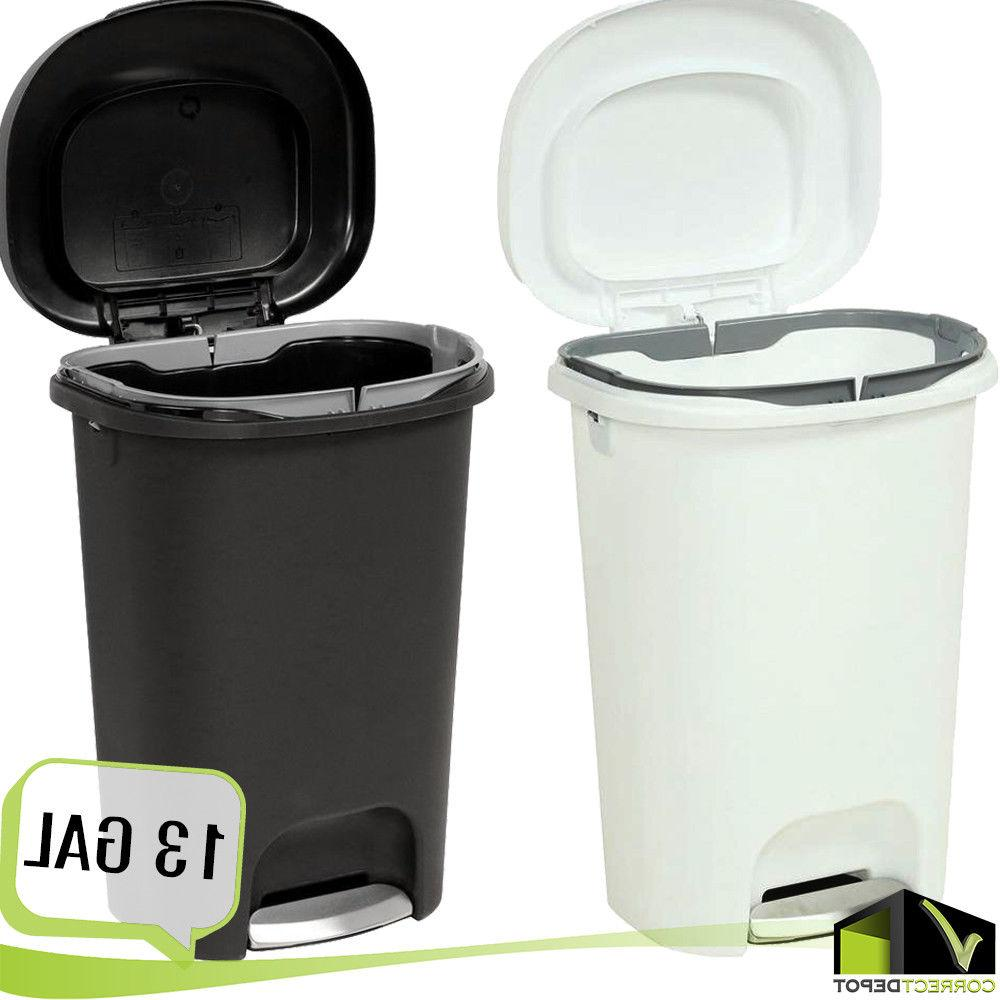 Step On Plastic Trash Can 13 Gal Rubbermaid