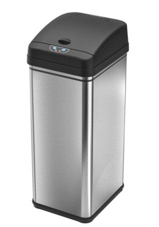 13 Gallon Automatic Motion Touch Sensor Trash Can Stainless