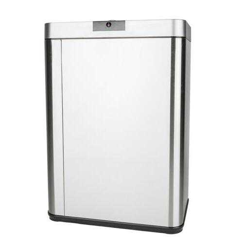 13 Gallon Automatic Touchless Stainless Steel