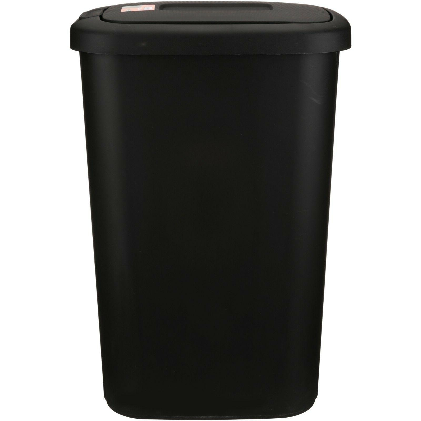 13 Kitchen Can Touch-Lid Waste-Basket Black
