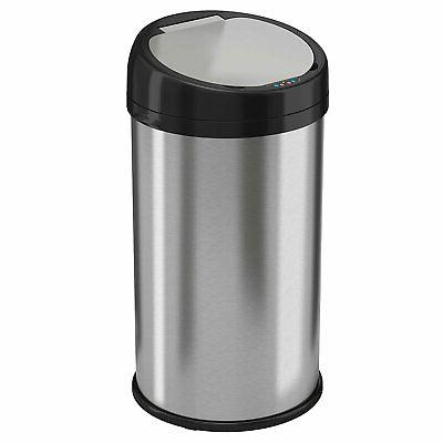 13 gallon sensor touchless trash can stainless