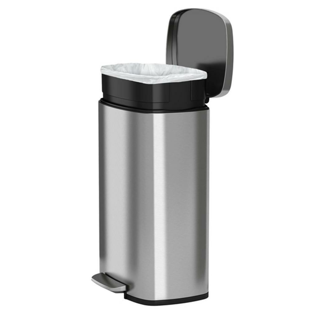 13 Gallon Tall Can Stainless Trash Kitchen Office