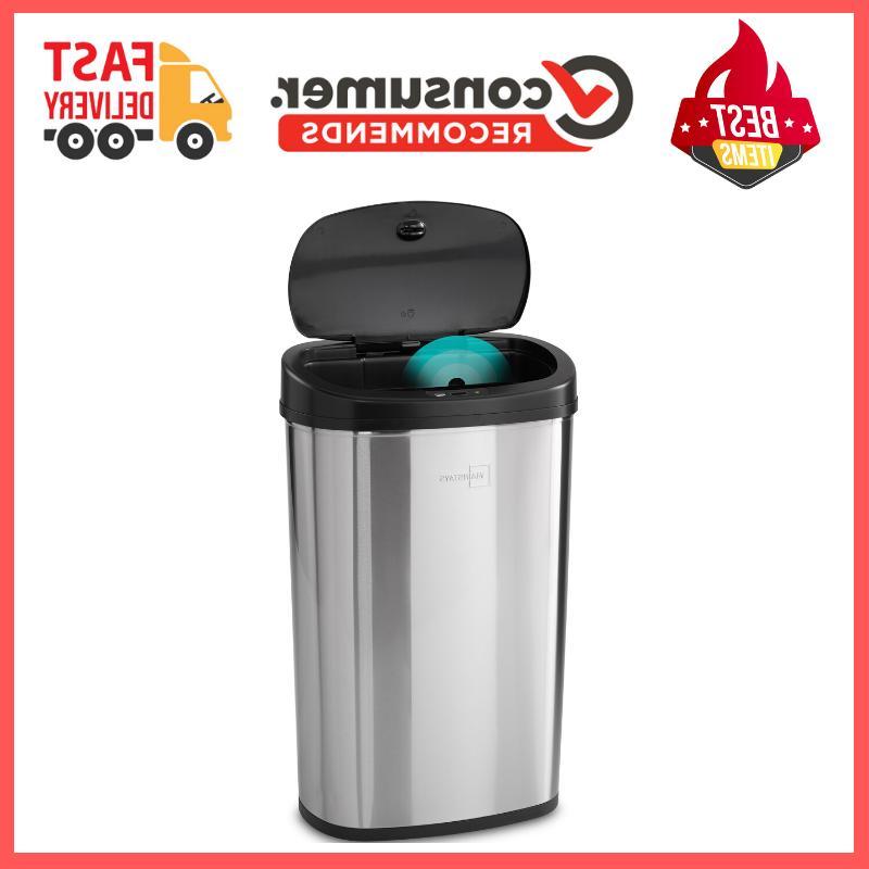 13 gallon trash can motion sensor stainless