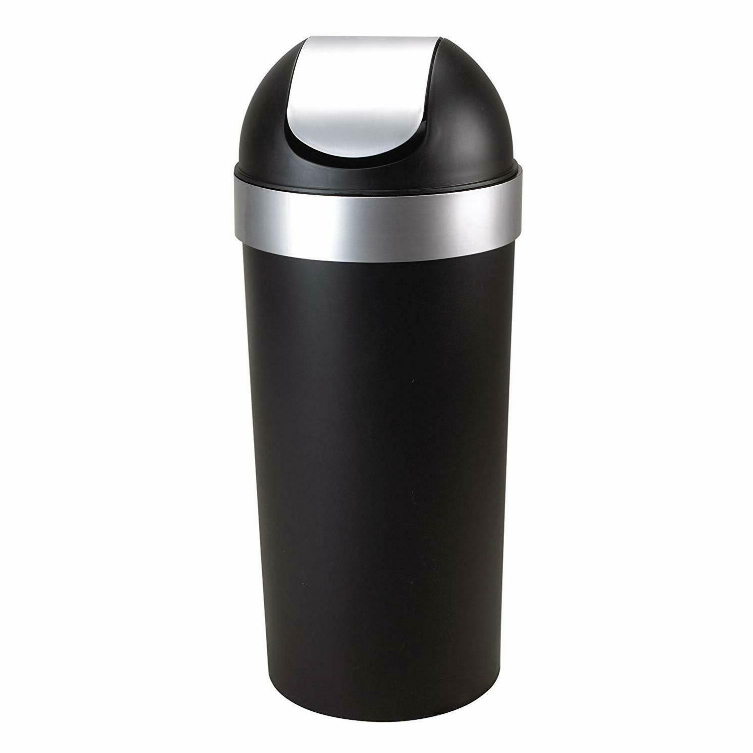 Venti 16-Gallon Swing Top Kitchen Trash Can – Large, 35-in
