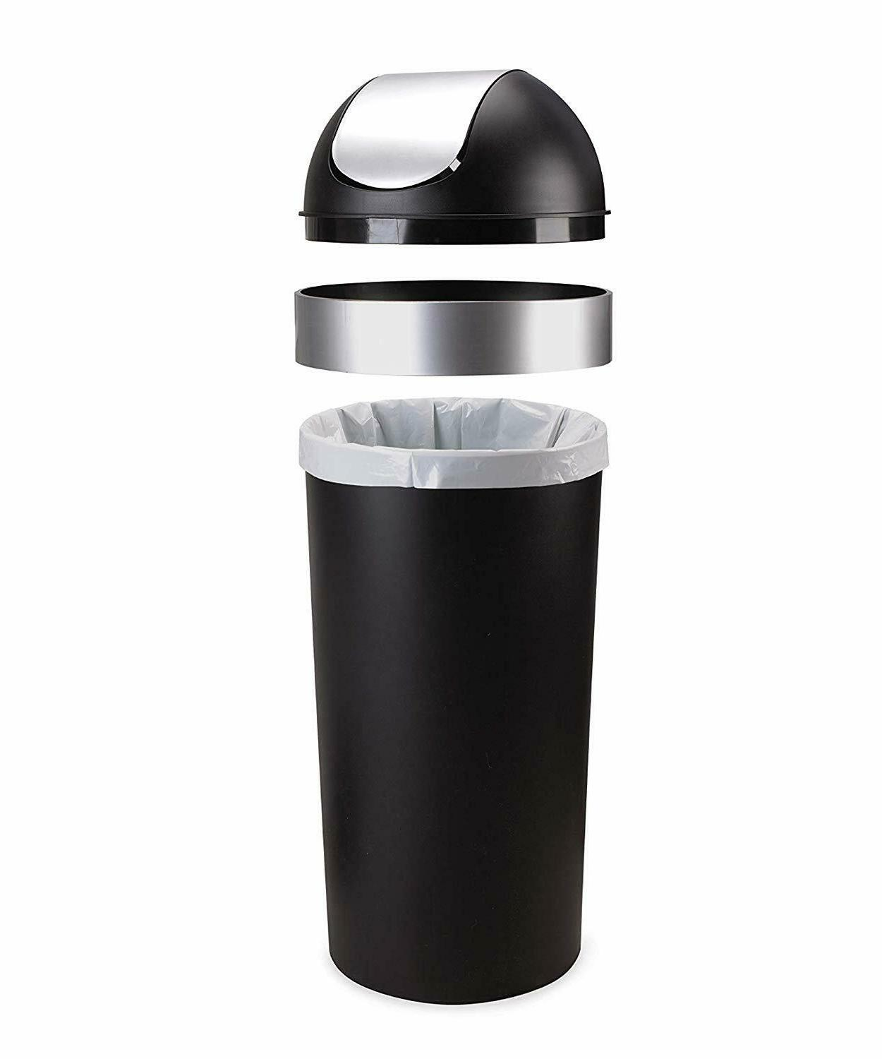16-gallon swing top kitchen trash can large 35-inch