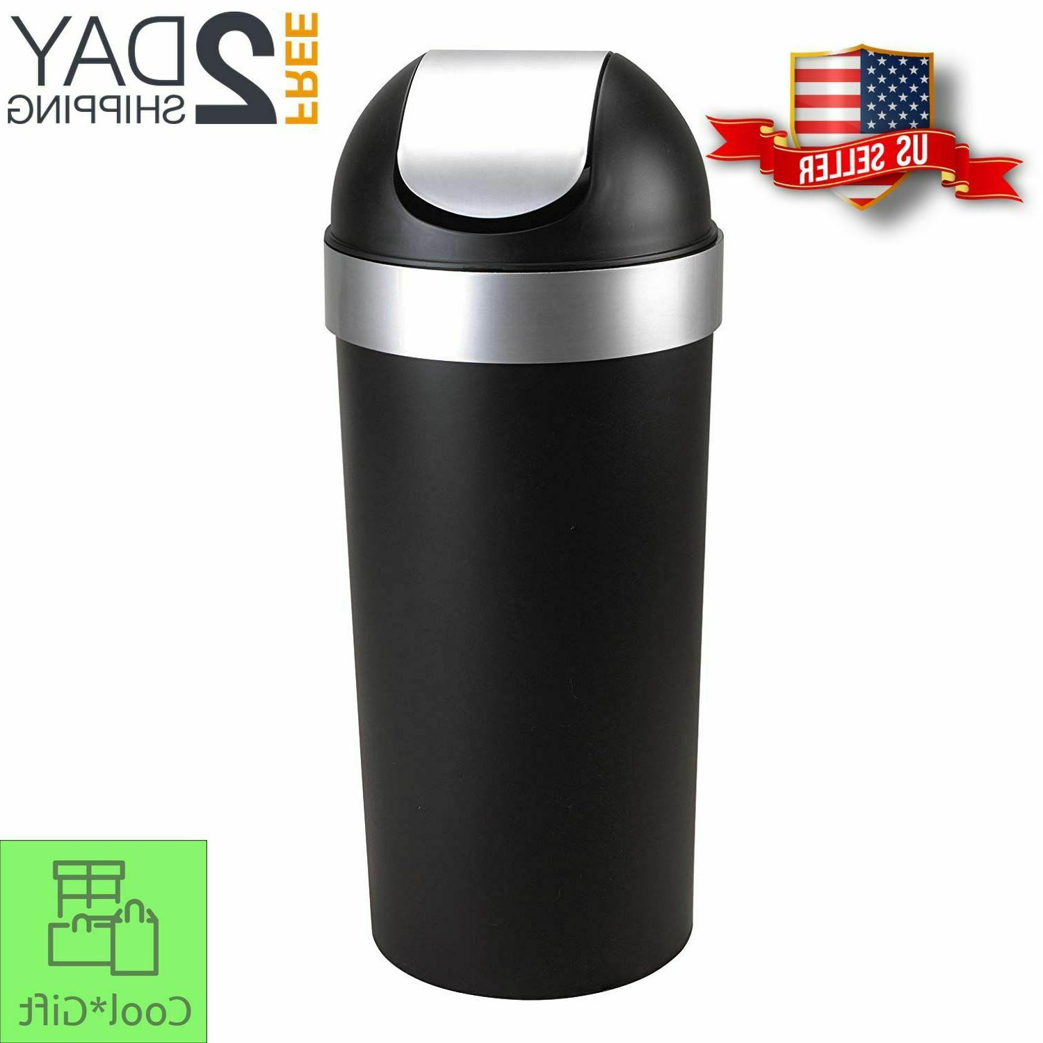 16 gallon swing top kitchen trash can