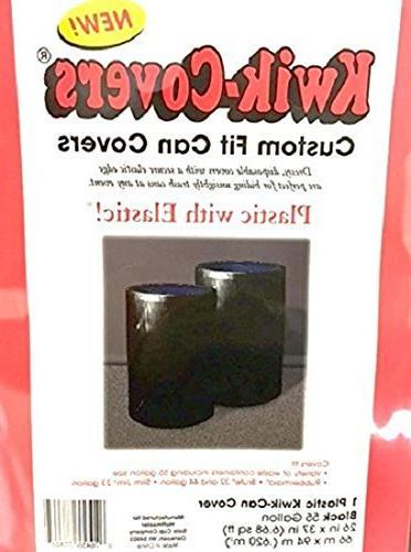 2 Solid Black Kwik-Covers 55 Garbage