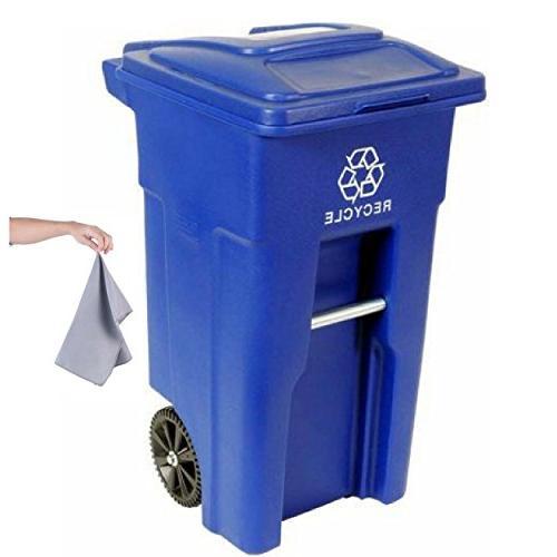 2 wheel recycling cart