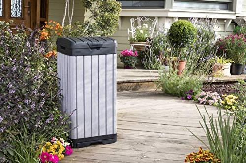Keter 237924 Outdoor Trash Can,