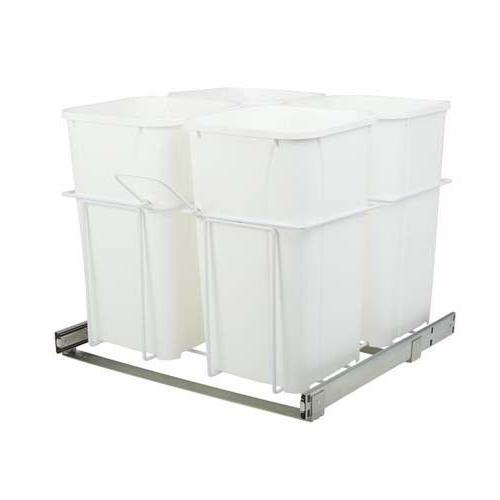 27 qt four bin kitchen garbage basket