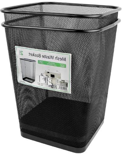 Greenco 2x Mesh Trash Square Black
