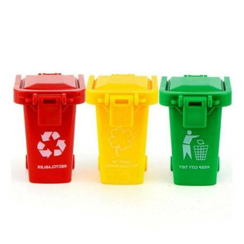 3 Color Mini Trash Can Bin Garbage Truck Curbside Can