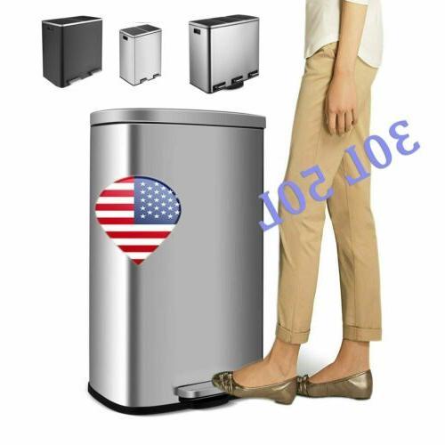 30 60l gallon kitchen step trash can