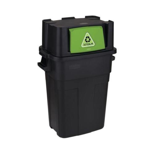 30Gal Stackable Indoor Recycling Garbage Bin Waste Trash Can