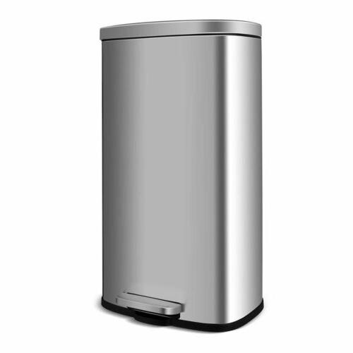 kitchen step trash can 8 gallon stainless