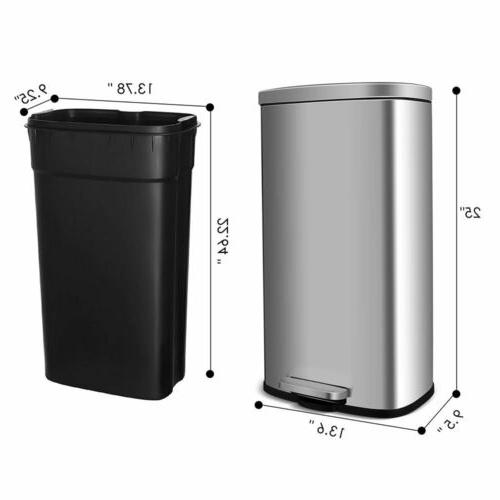 Kitchen Step Can 8 Gallon Garbage Silent Step Bin Home