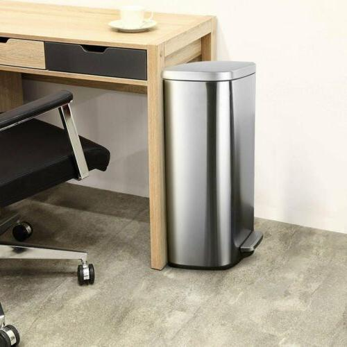 Kitchen 8 Stainless Garbage Bin Home
