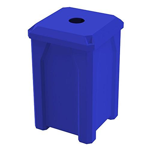"32 GALLON 4"" RECYCLE RECEPTACLE W/ LINER 