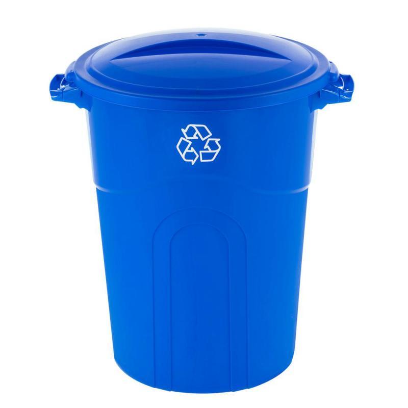 32 Gal. Bin Garbage with Snap-Fit Lid