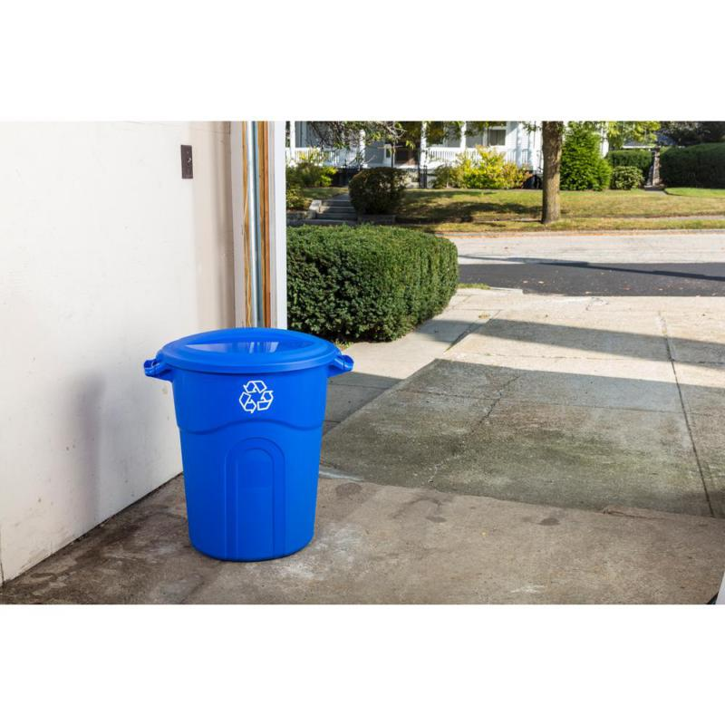 32 Gal. Recycling with Snap-Fit Blue