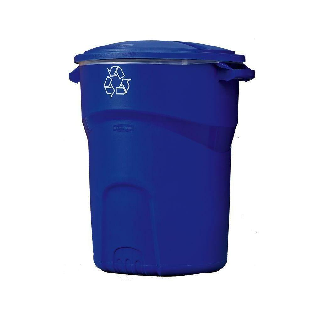 32 Plastic Standard Garbage Waste Trash Can