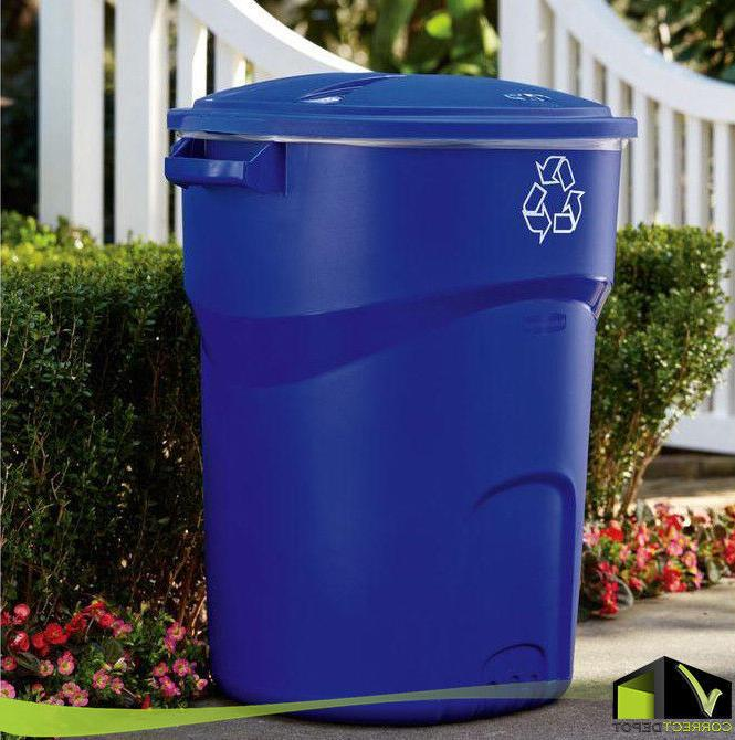 32 gallon recycling bin plastic standard garbage