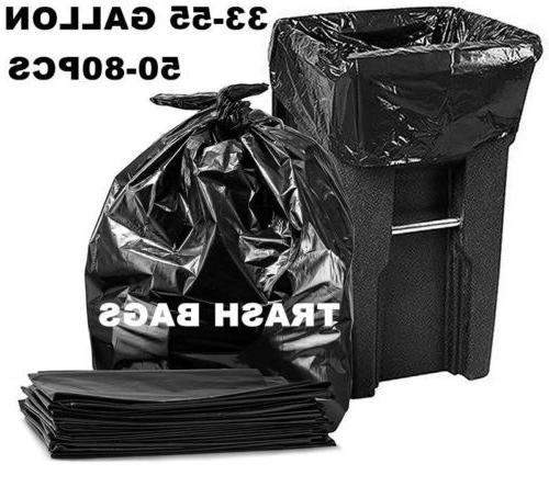 33 55 gallon trash can bags thick