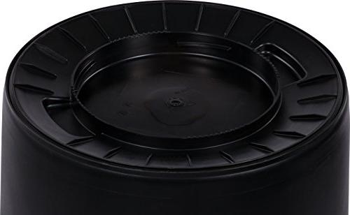 Carlisle Bronco Waste Gallon, Black