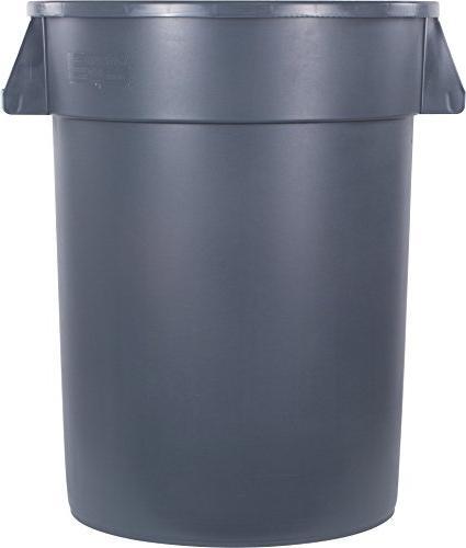Carlisle 34103223 Round Waste Gallon, Gray