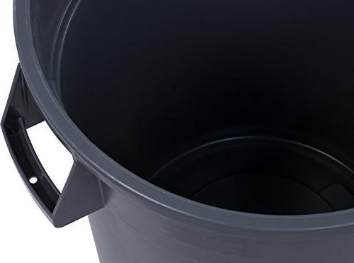 Carlisle 34103223 Bronco Waste Container Gallon, Gray