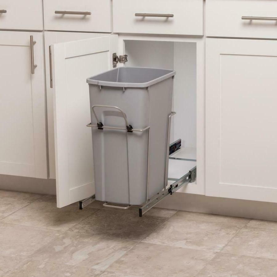 35 quart pull out kitchen cabinet garbage