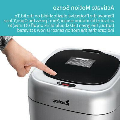 35L Trash Touchless Automatic Touch Free Motion