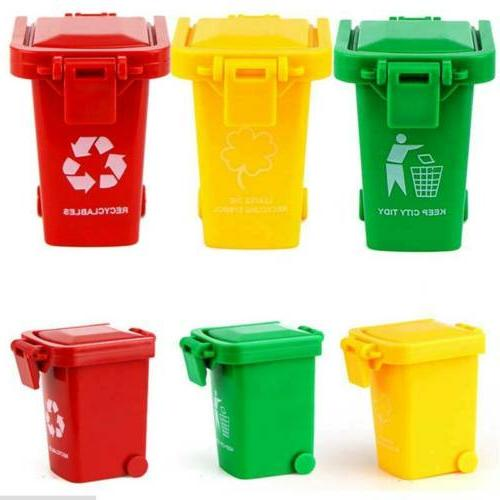 3 Color Cute Trash Can Bin Garbage Truck Curbside Can Kids
