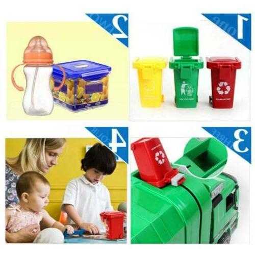 3 Cute Trash Bin Toy Garbage Can Kids