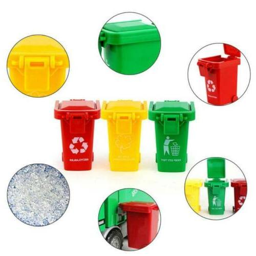 3Pcs/Set Garbage Truck Color Curbside Toy