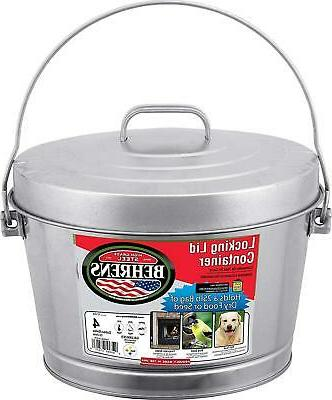 4 Gallon Container With Locking Lid Galvanized Steel Can For