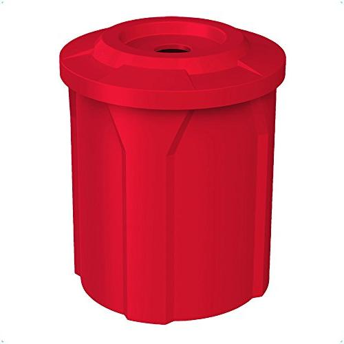 42 GALLON TRASH RECEPTACLE WITH 4 INCH RECYCLE LID & LINER  