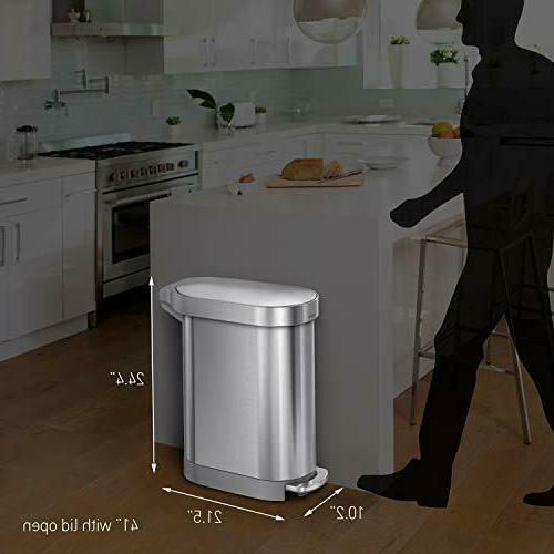 simplehuman Liter 12 Gallon Slim w Liner