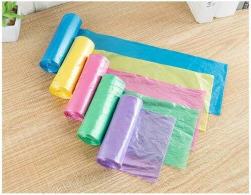 5 Rolls/Pack Household Trash Colored Disposable Bags