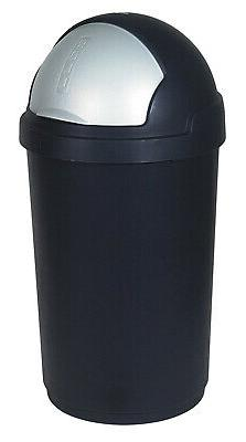 Curver 50 Roll-Top Garbage Can, Black/Silver, x x cm