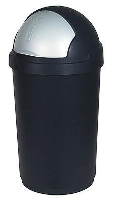 Curver Garbage Can, Black/Silver, x cm