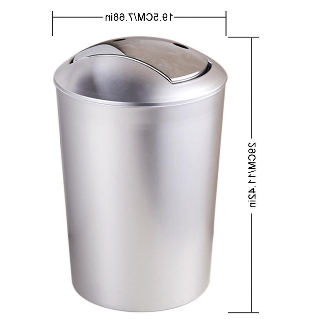 6.5L Bathroom European Style Trash Lid Bin