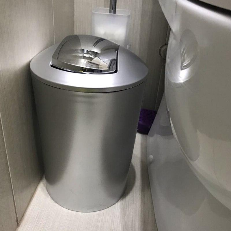 6.5L Bathroom Style Trash Wastebin Lid Kitchen Storage Bin