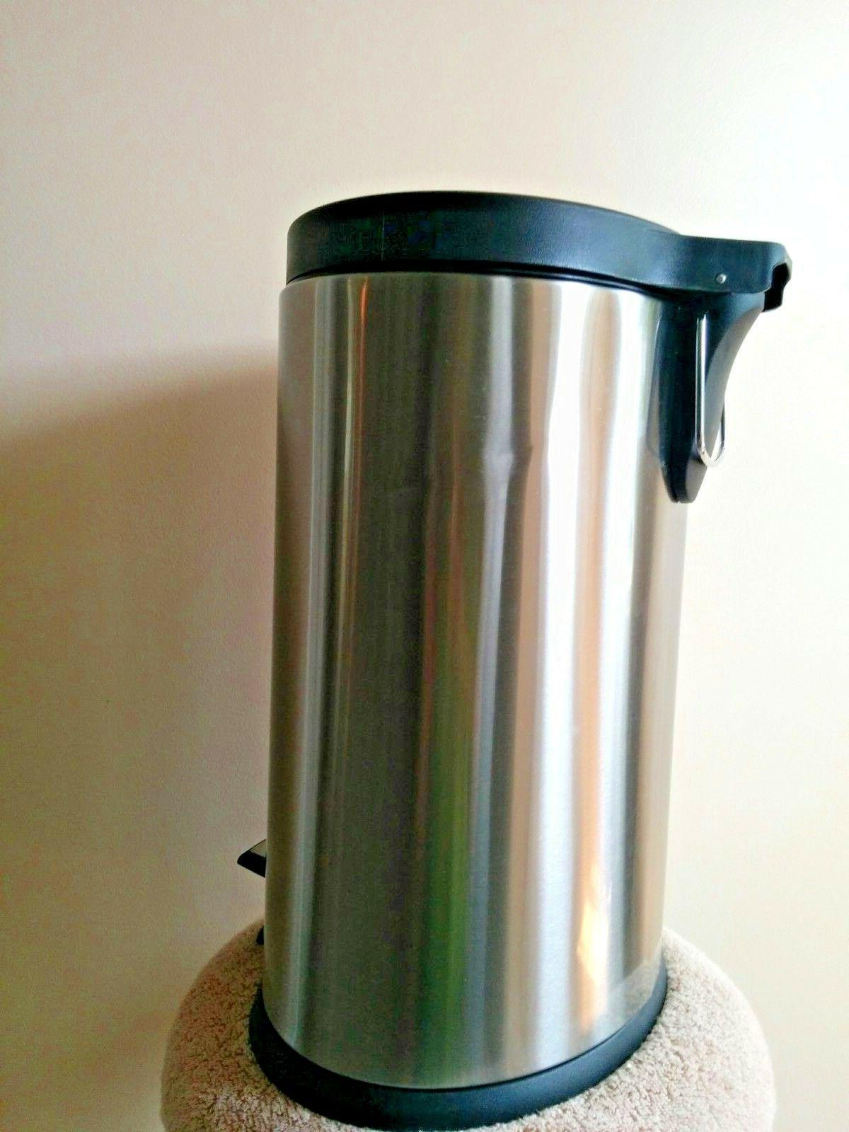 6 Liter Trash Garbage Step Can Bin Modern Oval