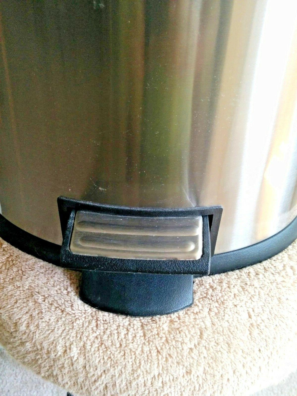 6 Metal Trash Garbage Step Can Bin