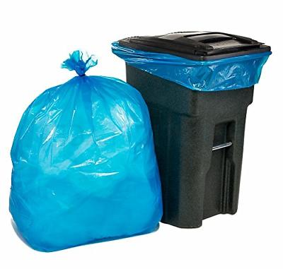 64-65 Gallon Recycling Toter Trash Can Bag Blue Heavy Duty G