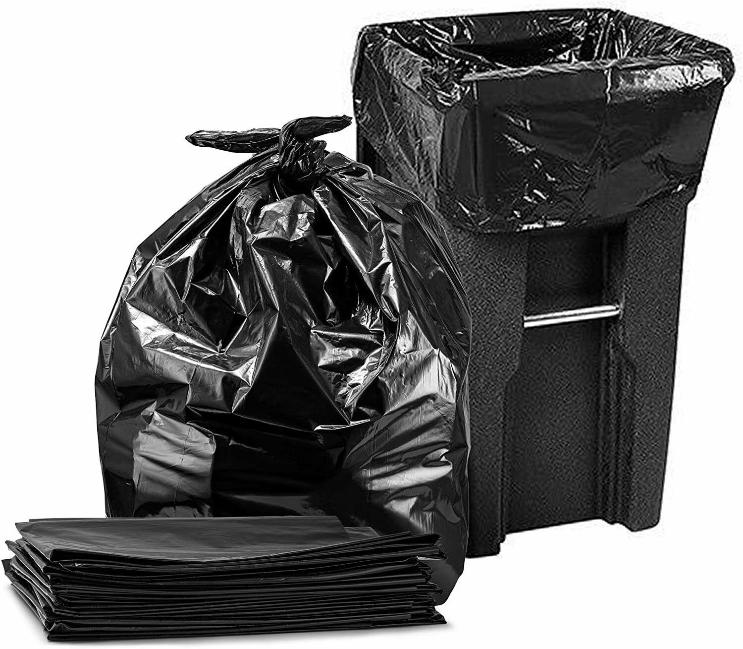 96 Gallon Trash Can Liners Garbage Outdoor Waste Bin 25pc
