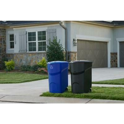 45 Gallon Rolling Trash Can Wheeled Waste Garbage Bin Plastic
