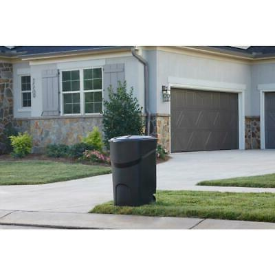 45 Large Rolling Trash Can Waste Garbage Bin Container